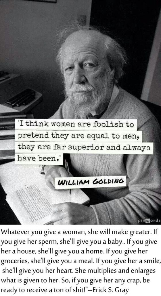 woman quotes: william golding foolish