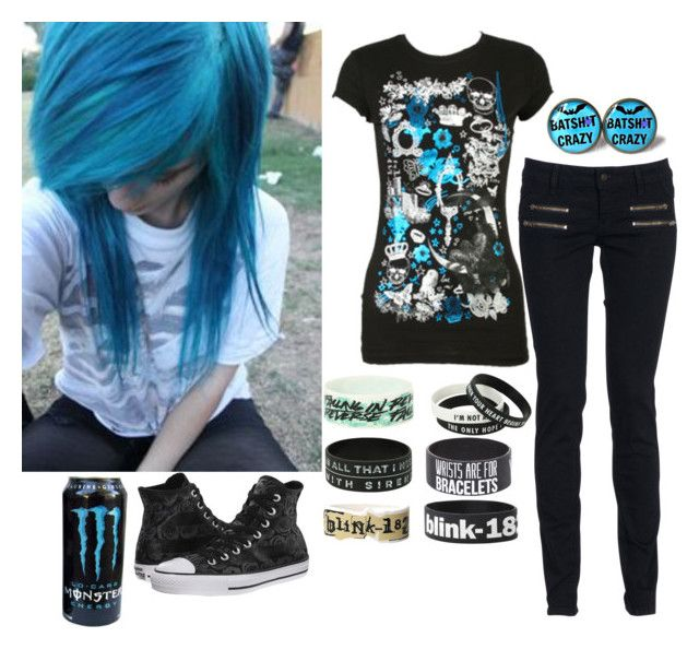 Blue scene/emo outfit