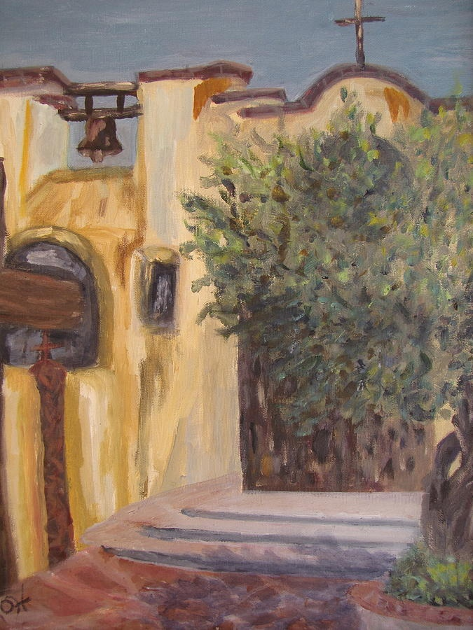 ST.Phillips Door Painting ( with Olive Tree) - Caroline Owen Doar