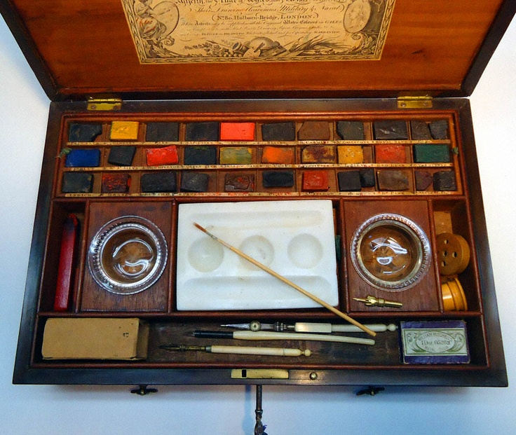 Reeves & Woodyer Antique Water Color Paint Box 17991816