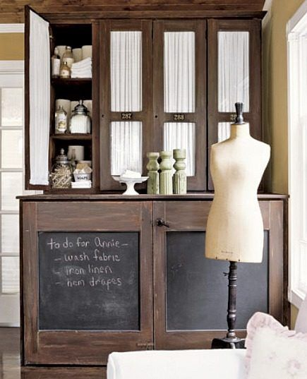 Hide the washer and dryer behind cabinets in the bathroom...plenty of storage on top...:): Cabinets, Ideas, Chalkboards, Dress Form, Washer And Dryer, Chalk Board, Chalkboard Doors, Laundry Room