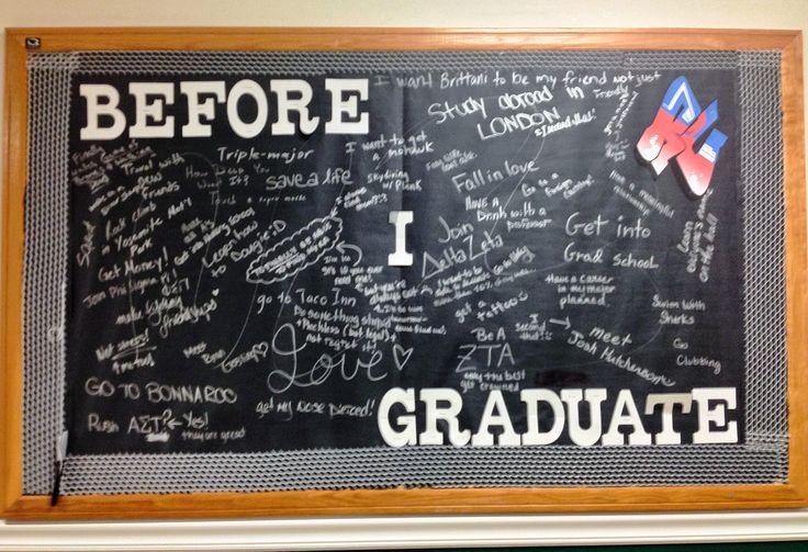 """Before I Graduate"" interactive bulletin board"