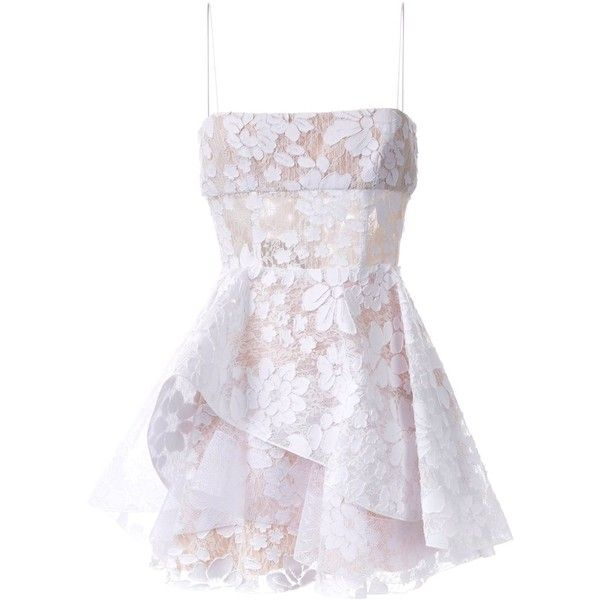 Alex Perry 'Alete' dress (6791010 PYG) ❤ liked on Polyvore featuring dresses, white, alex perry, white dress, white day dress and alex perry dresses