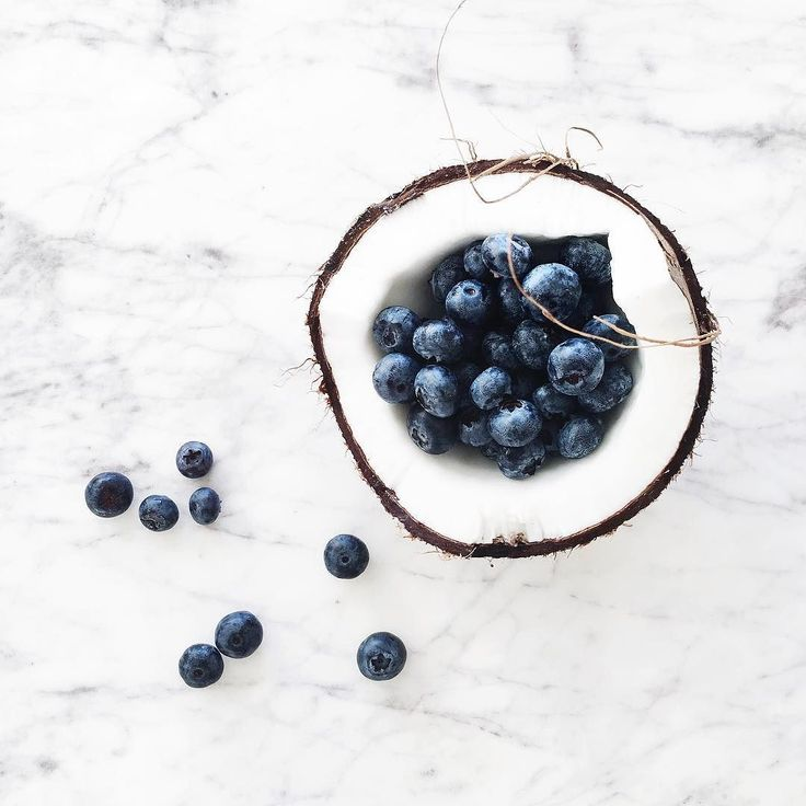 Weekend menu  // #coconut #blueberries by andicsinger