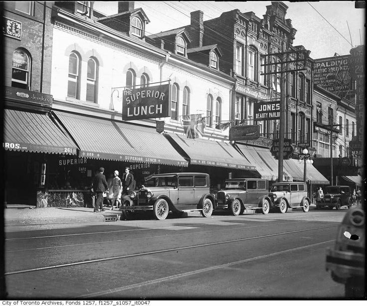 The Superior Restaurant on Yonge Street just south of Dundas in the 1930's.