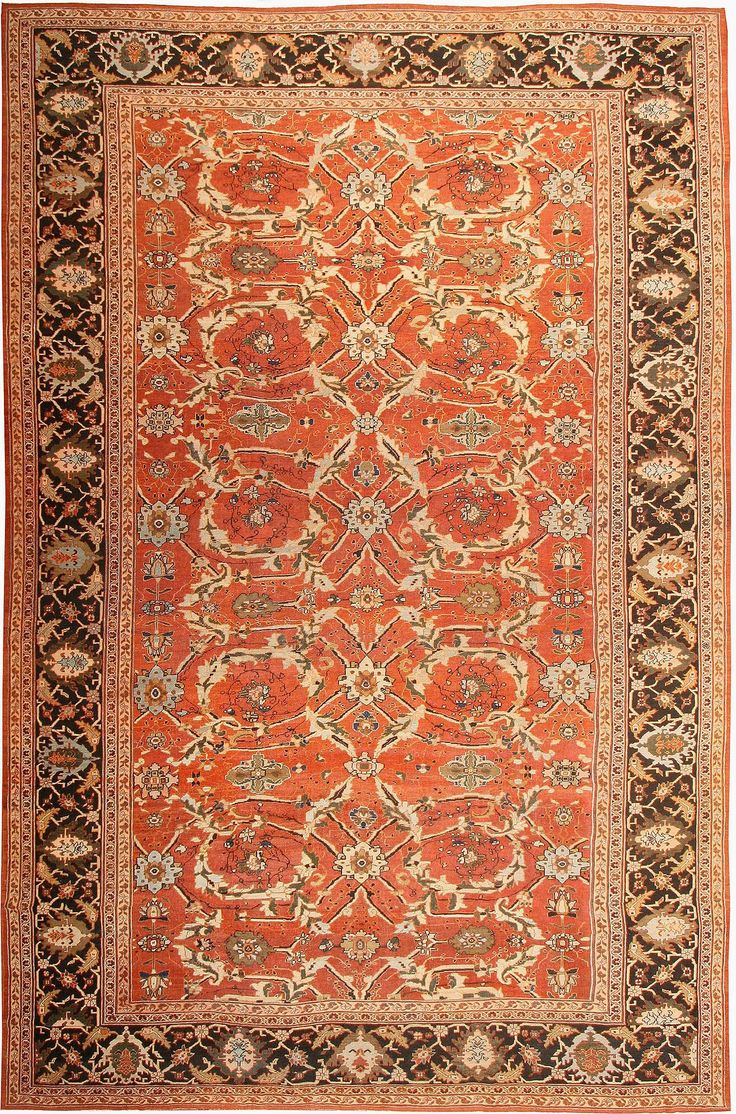 Polonaise antique oriental rugs - Antique Sultanabad Persian Rugs 42746 Detailed Photo Large Image