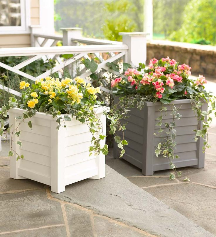 Wonderful Self Watering Lakeland Planters With Attractive Clapboard Design    Irrigation Reservoir Keeps Plants Moist And