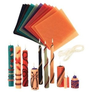 Beeswax Candle Rolling Kit with Decorating Ideas, in Bright Colors!!! AWESOME!!!  $19.98