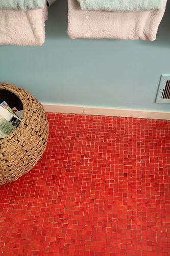 Red Mosaic Tile Floor