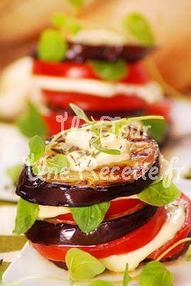 Photo de la recette Tian d'aubergines et tomates à la mozzarella