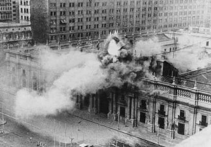 La Moneda.  Santiago de Chile, 11 de Sept. 1973
