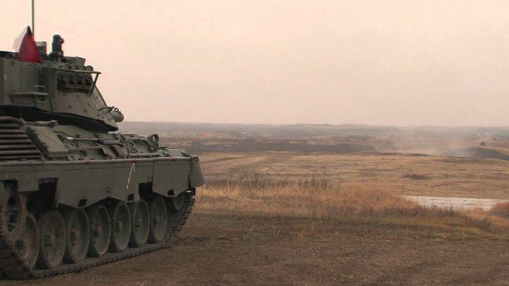 Leopard Tank Firing in Wainwright, AB