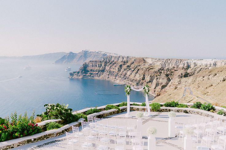 Santorini Wedding Venues Venetsanos winery #wedding #Santorini #venues