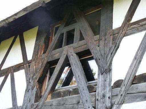 New Window behind old Fachwerk