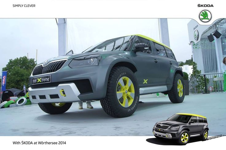 The Yeti Xtreme concept model.  It's inspired by our rally know-how and powered by a 1.8 112 kW strong TSI engine with DSG transmission.