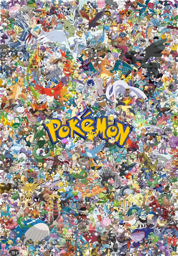 Pokemon Collage! Truly amazing artist. I left a comment requesting the file image. He was so kind to email it to me so I could use it as a gift for my son. Hats off to him. Very generous!!