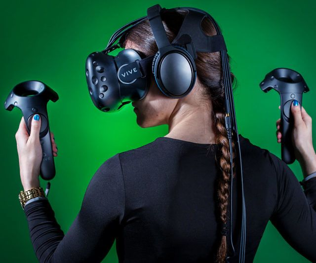 The HTC Vive Virtual Reality headset delivers a fully immersive room-scale…