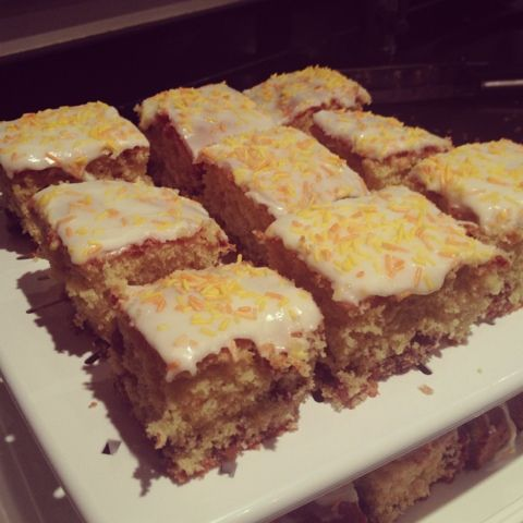 Orange and Sultana tray bake - Mary Berry