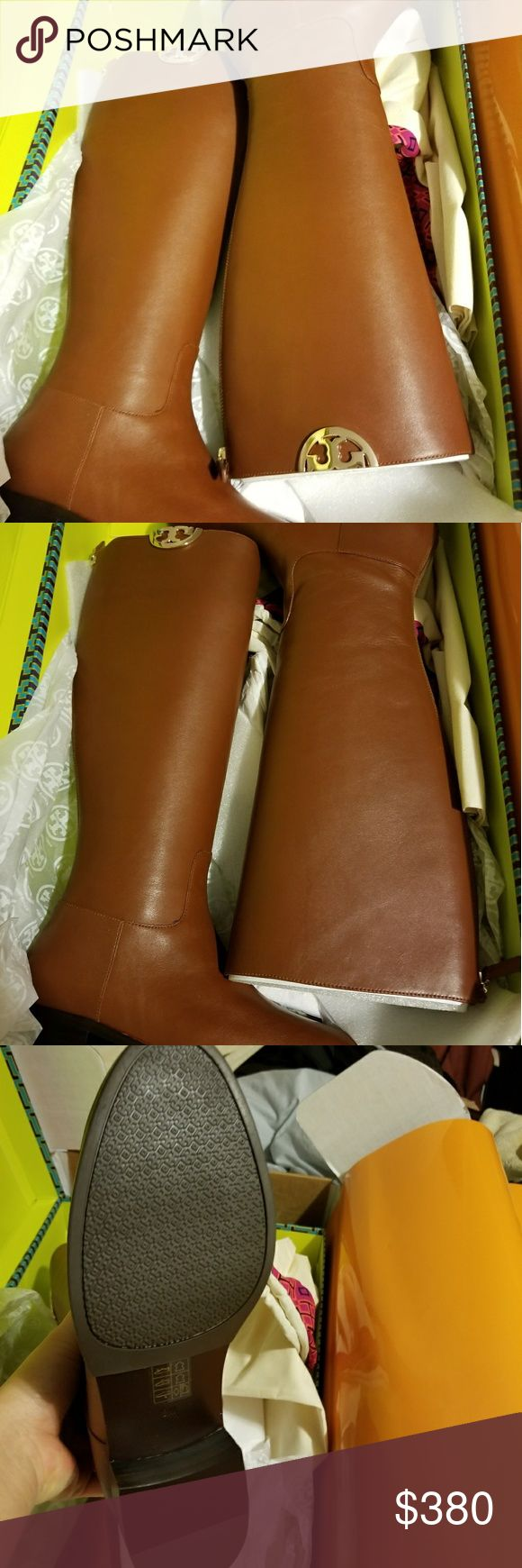 Tory Burch Sidney leather boots size 8 Brand new with tag Tory Burch Shoes Over the Knee Boots