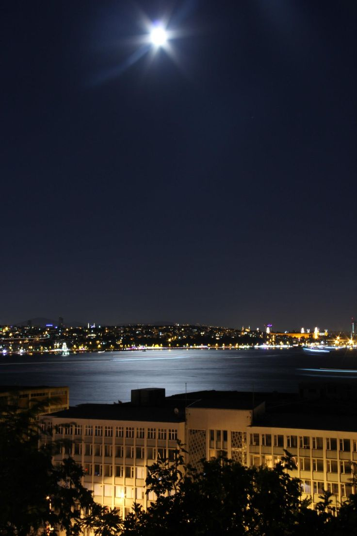 Bosphorus from Cihangir Park, Beyoglu, Istanbul.