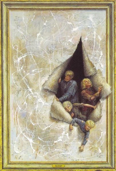 OTTO FRELLOS MALERIER:  udbrud, art, fantasy, breaking out, frame