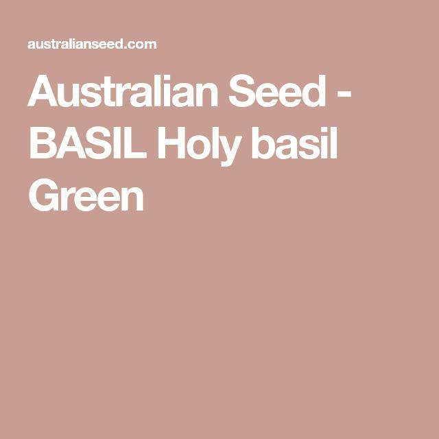Australian Seed - BASIL Holy basil Green