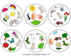 FUNGLISH: Spring Dobble  dobble, duble, spring, wiosna, vocabulary, flowers, insects