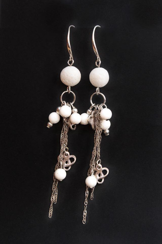 white coral earrings