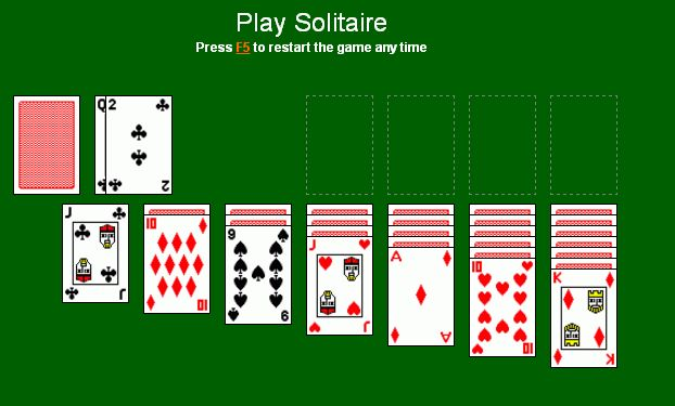 Free play Solitaire online Solitaire.win Playing