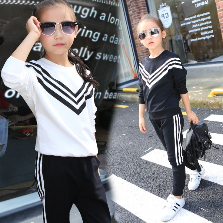 $16.38 (Buy here: https://alitems.com/g/1e8d114494ebda23ff8b16525dc3e8/?i=5&ulp=https%3A%2F%2Fwww.aliexpress.com%2Fitem%2FGirls-Sports-Suits-Striped-Tracksuits-For-Girls-Clothing-Sets-Long-Sleeve-Cotton-Sportswear-Kids-Outfits-2%2F32727265779.html ) Girls Sports Suits Striped Tracksuits For Girls Clothing Sets Long Sleeve Cotton Sportswear Kids Outfits 2 4 6 8 10 12 Years for just $16.38