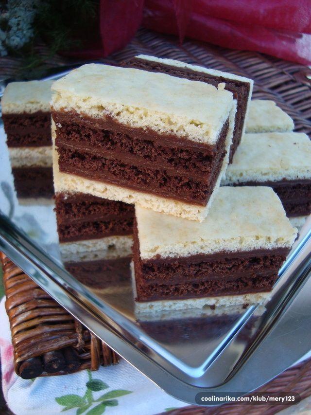 fehér-kakaós szelet - hűtőbe teszem,kakaós tésztát, - ibolya58 Blogja - 2014-03-16 08:26