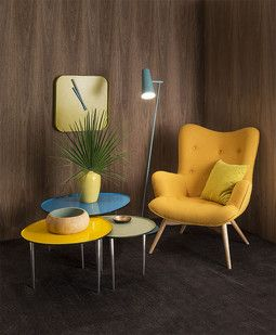 10 nice chairs... I'd looove a bright yellow chair! .. Imageine it in a corner with a blanket, bookshelf and hot cup of someting