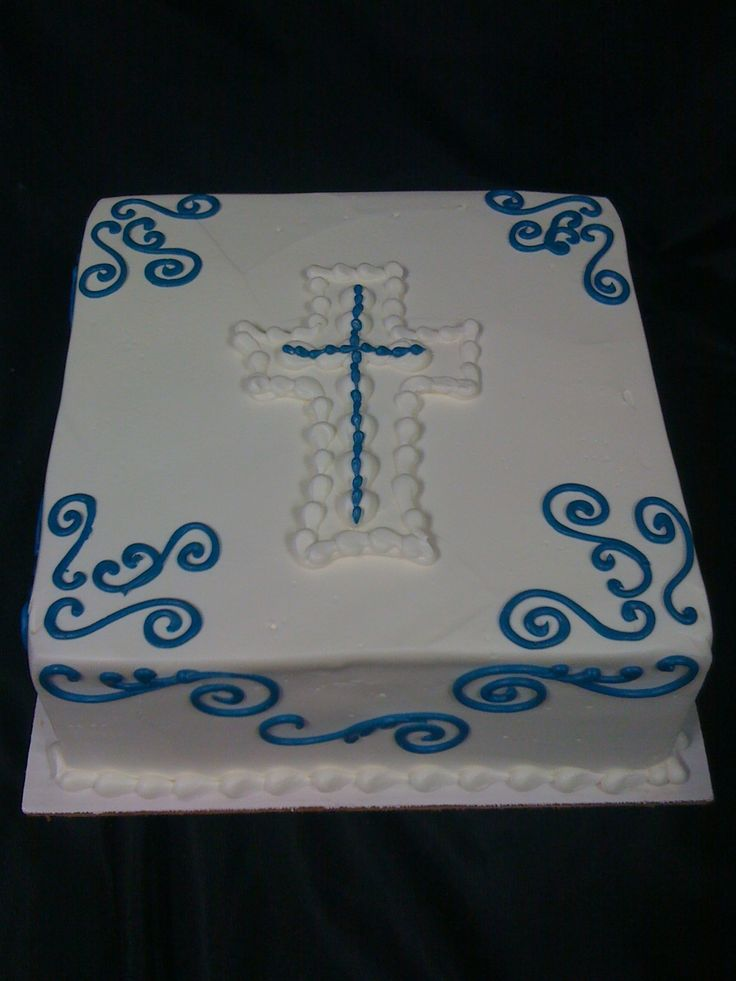 Confirmation Cake Decorations