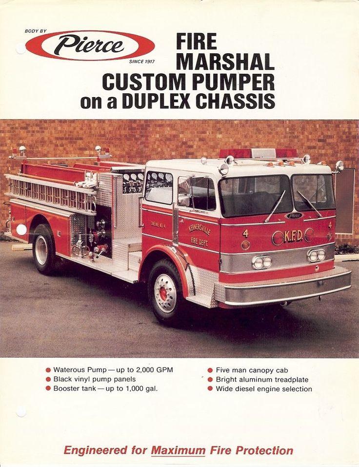 Fire Equipment Brochure - Pierce - Fire Marshall Pumper Duplex Chassis (DB120)