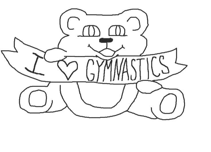 15 best Gymnastics color pages images on Pinterest