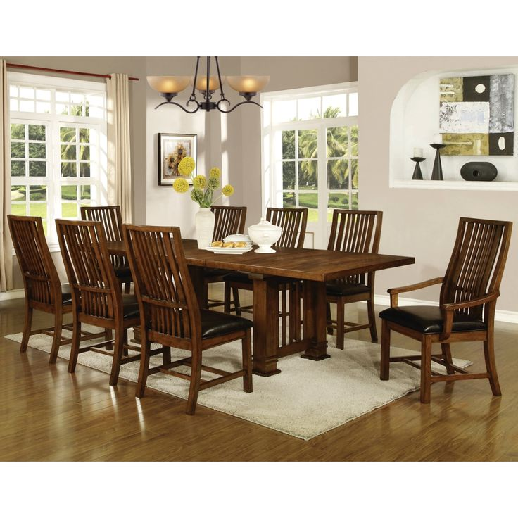 Liberty Mission Style 9 Piece Dining Set