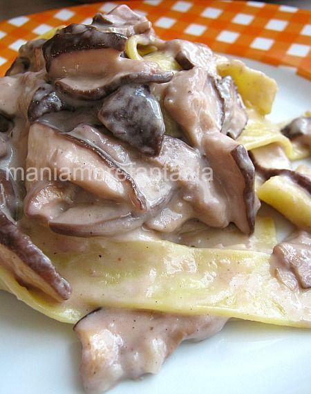 Pappardelle ai funghi, primo piatto cremoso senza panna || maniamore