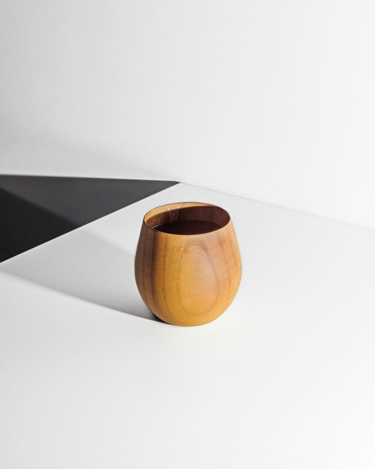 A Japanese wooden mug will spice up your kitchen set.
