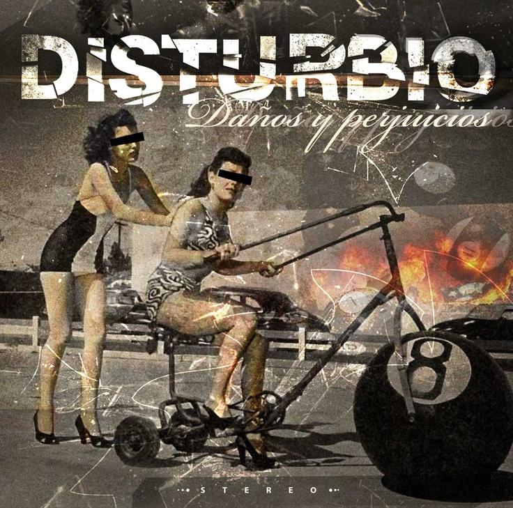 """Portada para el disco de Disturbio """"Daños y perjuicios"""""""