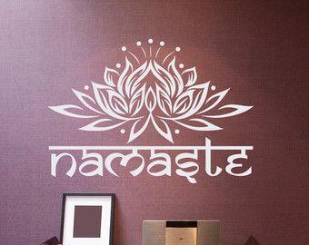 Wand Aufkleber Mandala Ornament entwirft Lotus von FabWallDecals