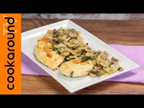 Petto di pollo ai funghi / Ricette secondi piatti veloci - YouTube