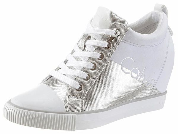 Calvin Klein Sneaker silber weiß #shoes #sneakers #schuhe