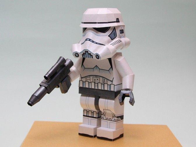 star wars lego stormtrooper free papercraft download. Black Bedroom Furniture Sets. Home Design Ideas