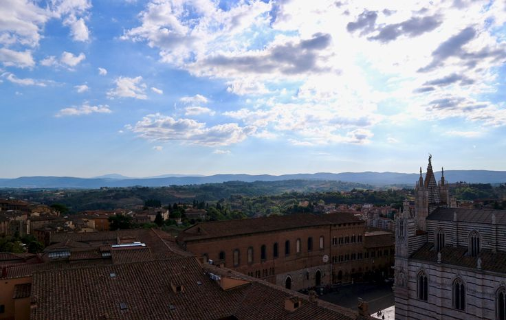 View of Siena from the Duomo's rooftop  #siena #italy