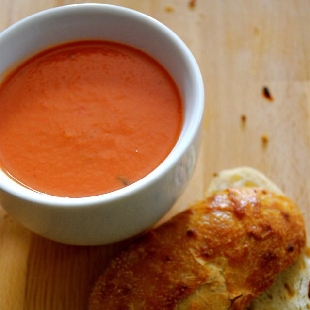 "Homemade Tomato Soup | ""While Campbell's is the traditional favorite, I've been smitten with homemade tomato soup. It's cheap, delicious, and simple to make. As an added bonus--additives, high fructose corn syrup, and excessive sodium are not invited to the party."" 