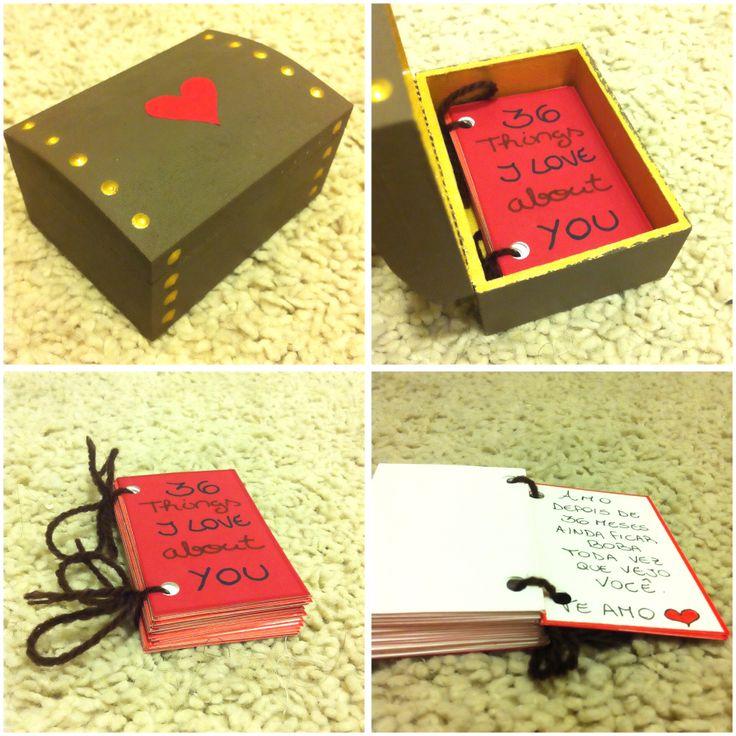 girlfriend boyfriend dyi gift - valentine's day - things i love about you - presente dia dos namorados - namorado - namorada - coisas que eu amo sobre você - faça você mesmo