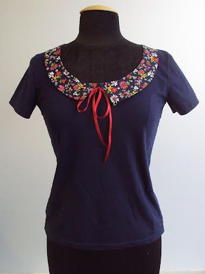 Refashion Friday Tutorial/How-To: Draft a Collar for a T-shirt Refashion/Remake