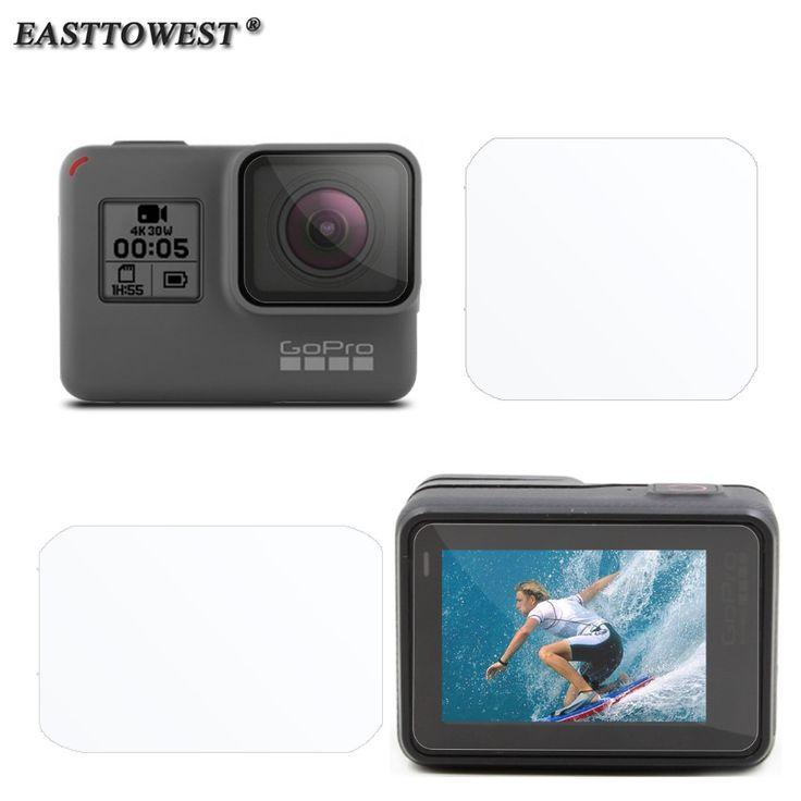 Accesorios gopro hero 5 easttowest lente película protectora + película protectora de la pantalla lcd para gopro hero 5
