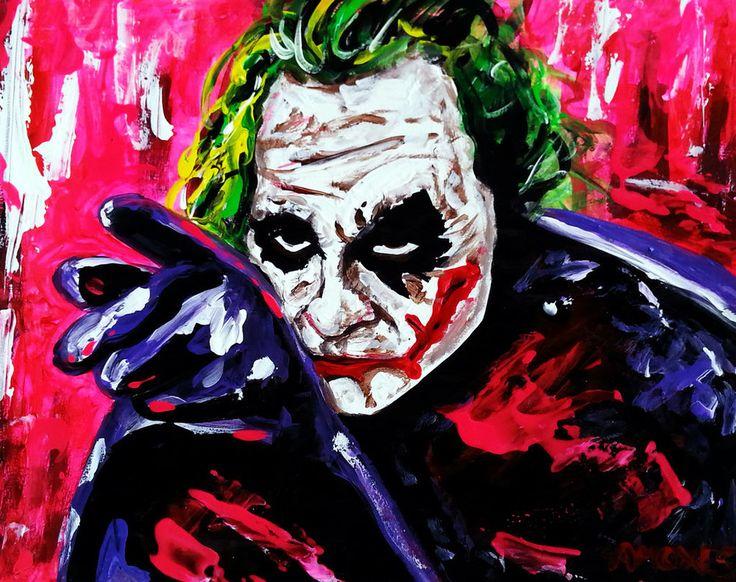 The Joker  Actor: The late Heath Ledger, Paper,11x14