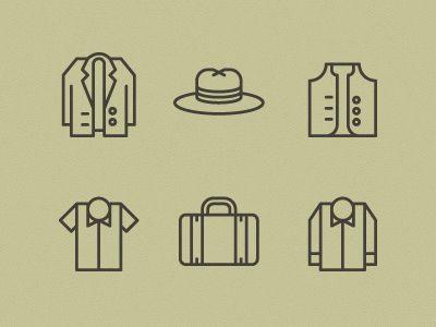 Men's Garments Icons by Tim Boelaars